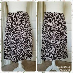 Calvin Klein Womens Size 14  skirt cheetah print